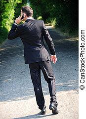 telefoon, zakenmens