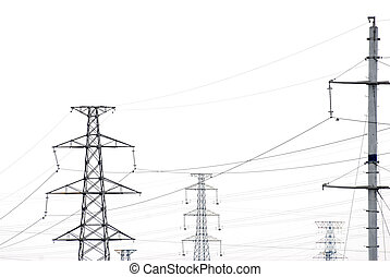 telegraph pole isolated on white background