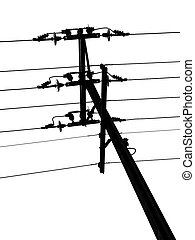 Telegraph Pole - Black and White Telegraph pole