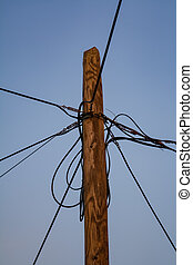 telegraph pole with multiple wires in Montenegro