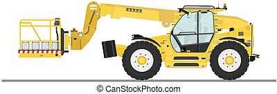 Telehandler with bucket - Non rotating telehandler with ...