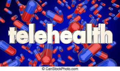 Telehealth Medication Pills Prescription Online Service 3d Illustration