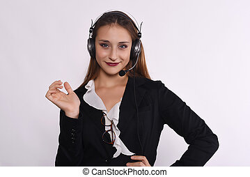 Telemarketer woman