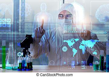 telemedicine, mhealth, concetto, con, giovane dottore