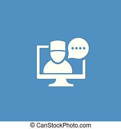 Telemedicine, online medical diagnosis icon