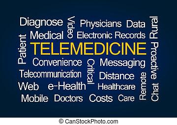 telemedicine, palabra, nube