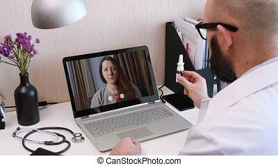 Telemedicine. Video call with doctor - Telemedicine. ...