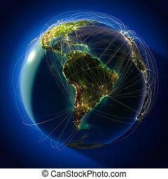 telepít, repülés, őrnagy, globális, földgolyó