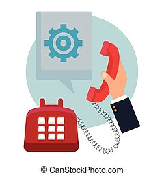 telephone assistance icon