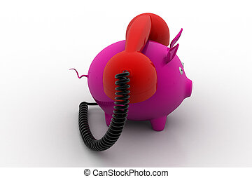 telephone banking concept