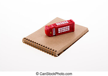 Telephone boot with notebook