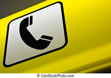 Telephone booth sign
