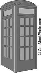 Telephone box icon monochrome