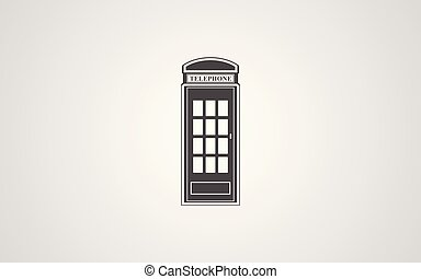 telephone box vector icon sign symbol