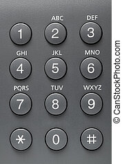 Telephone buttons