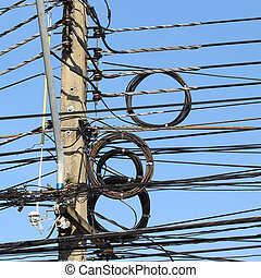 Telephone cable and transmission line