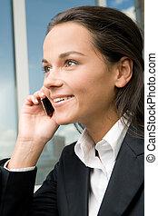 Telephone call - Profile of successful businesswoman�s ...