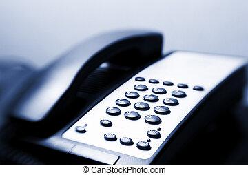 Telephone - Close-up image of a telephone keypad. Selective...