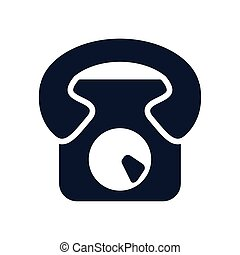 telephone communication device isolated icon