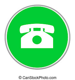 Telephone contact button - Green telephone contact button...