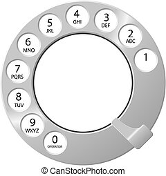Telephone Dial - Telephone dial design available in both ...