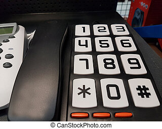 telephone divices analog big numbers home office