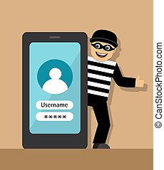 telephone fraud and fraud - mobile phone and man cheater in...