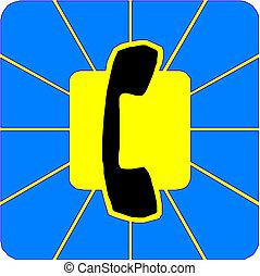 Telephone handset icon