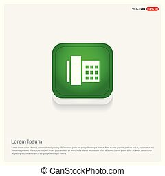 Telephone Icon Green Web Button