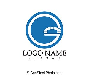 Telephone icon logo design