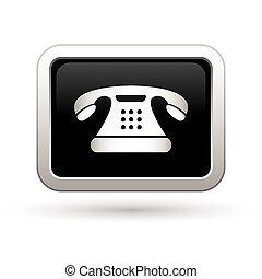 Telephone icon. Vector illustration