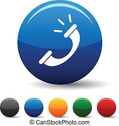 Telephone icons. - Telephone icon set. Vector illustration...