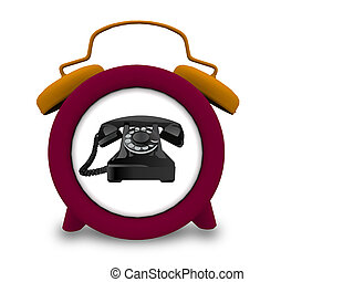 telephone in a clock