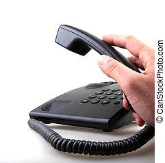 telephone isolated over white background