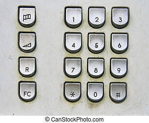 Telephone keyboard in public phone