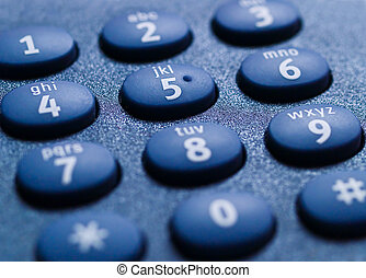 Telephone Keypad Closeup 1 - Closeup of a telephone keypad,...