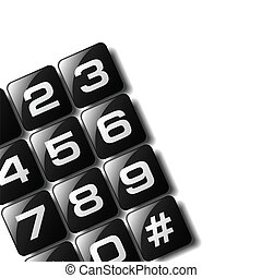 Telephone Keypad - Telephone keypad design available in both...
