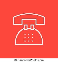 Telephone line icon.