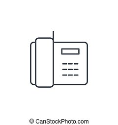 telephone, office phone thin line icon. Linear vector symbol