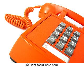 Old-school orange telephone