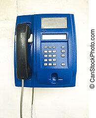 Telephone on the wall. Studio Photo