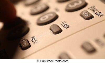 Telephone Operation Close Up