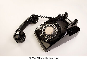 Telephone - Old Style Rotary telephone.