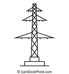 Telephone pole icon, outline style