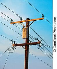 Telephone pole in Los Angeles California