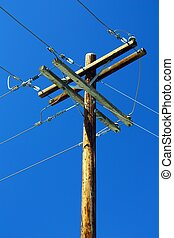 Telephone Pole with sky.