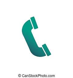 telephone receiver, gradient style icon vector illustration ...