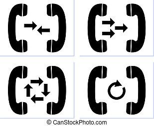 Telephone Receiver Icon Vector Illustration