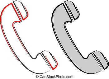 Telephone Receiver Icon Vector Illustration