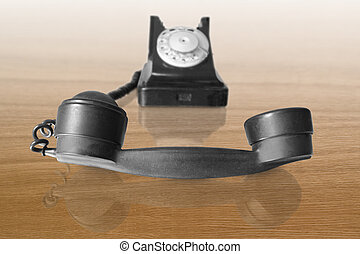 telephone receiver of vintage phone